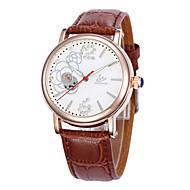 女性用 ファッションウォッチ 機械式時計 クォーツ レザー バンド ブラック ブラウン ピンク
