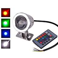 baratos Focos-1pç 10 W Lâmpada Subaquática Impermeável / Controlado remotamente / Decorativa RGB 12 V Iluminação Externa / Pátio / Jardim