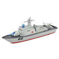 hesapli Oyuncak Tekneler-Oyuncaklar Modely Helikopter Uçak Gemisi Oyuncaklar Simülasyon Warship Uçak Gemisi Gemi Helikopter Metal Alaşımlı Parçalar Unisex Hediye