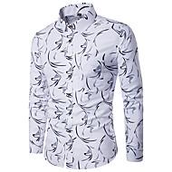 Pánské Geometrický Běžné/Denní Jednoduché Košile-Všechna období Polyester Košilový límec Dlouhý rukáv