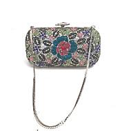 baratos Clutches & Bolsas de Noite-Mulheres Bolsas vidro / Metal Bolsa de Festa Detalhes em Cristal Verde
