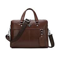 Men Bags Cowhide Tote for Casual Formal Office & Career All Seasons Black Brown