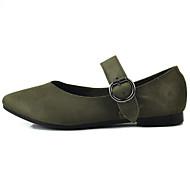 preiswerte -Damen Flache Schuhe Komfort Leuchtende Sohlen Stoff Jahreszeiten Frühling Normal Walking Komfort Leuchtende Sohlen Schnalle Flacher Absatz