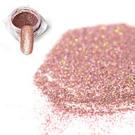 0.2g/bottle Fashion Sweet Style Bare Pink Shining Pigment DIY Charm Decoration Nail Art Laser Glitter Holographic Fine Powder  JX15