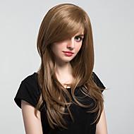 Syntetisk hår Parykker Naturligt, bølget hår Lågløs Naturlig paryk Lang Brun