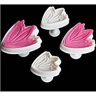 4 Stk /  Sett Bakeform Kake Til Småkake Plastikker baking Tool Kreativ Kjøkken Gadget