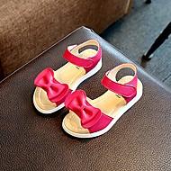 baratos Sapatos de Menina-Para Meninas Sapatos Microfibra Verão / Outono Conforto / Chanel / Sapatos para Daminhas de Honra Sandálias Caminhada Laço para Branco / Pêssego / Rosa claro / Borracha
