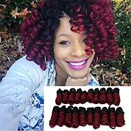 Synthetic african curls Bouncy Curl hair 20inch kenzie curls ombre color kanekalon crochet braiding hair extension Bouncy Curly 20roots/pack