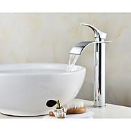 Håndvasken vandhane Krom Centersat Enkelt håndtag Et Hul