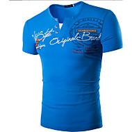 Rund hals Herre - Ensfarvet T-shirt Bomuld