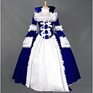 Victoriansk Gotisk Middelalderkostumer Kostume Kvindelig Festkostume Maskerade Vintage Cosplay Blonde Andet Langærmet Kappe