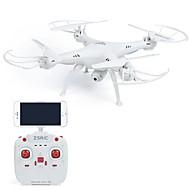 RC Drone ZSR / C ZSRC Z1W Canal 4 6 Eixos 2.4G Com Câmera HD 0.3MP 30 Quadcópero com CR Luzes LED / Retorno Com 1 Botão / Seguro Contra