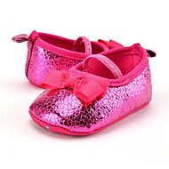 cheap Baby Shoes-Kid's Girls' Shoes Synthetic Summer Fall First Walkers Loafers & Slip-Ons Bowknot Animal Print for Casual Party & Evening Dress Red Pink