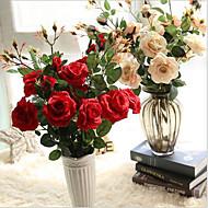 5 deler 5 Gren Silke Roser Bordblomst Kunstige blomster