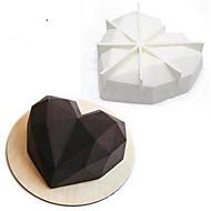 billige Bakeredskap-Bakeform Hjerte Sjokolade Kake Silikon Valentinsdag Bryllup 3D Ferie Non-Stick