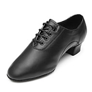 cheap Shoes & Bags-Men's Latin Shoes Leather Heel / Sneaker Low Heel Customizable Dance Shoes Black / Performance