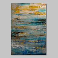 billiga Abstrakta målningar-Hang målad oljemålning HANDMÅLAD - Abstrakt Klassisk Moderna Duk