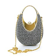 cheap Bags-Women Bags Suede Polyester Satin Clutch for Event/Party All Seasons Gray