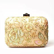 baratos Clutches & Bolsas de Noite-Mulheres Bolsas Poliéster / Veludo Bolsa de Festa Pétala / Floral / Flor Árvores / Folhas Dourado