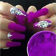 1box Chic & Modern Nail Glitter Glamour Acrylic Powder Grape Nail Art Design 0.001kg/box Nail Art Decoration