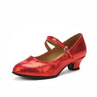 billige Moderne sko-Dame Moderne sko Høye hæler Kustomisert hæl Kan spesialtilpasses Dansesko Svart / Sølv / Rød / Innendørs