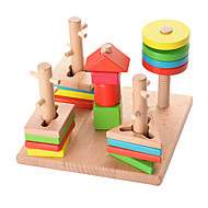 Steckpuzzles Für Geschenk Bausteine Naturholz 3-6 Jahre alt Spielzeuge