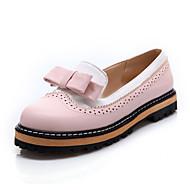 Damen Flache Schuhe Komfort Leuchtende Sohlen Kunstleder Sommer Herbst Normal Kleid Komfort Leuchtende Sohlen Schleife KombinationFlacher