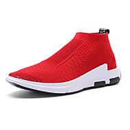 Žene Cipele Til Proljeće / Ljeto Sneakers Trčanje Ravna potpetica Okrugli Toe za Crn / Sive boje / Crvena