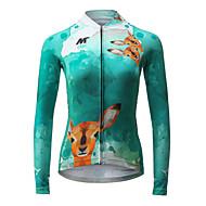 ieftine MYSENLAN®-Mysenlan Jerseu Cycling Pentru femei Manșon Lung Bicicletă Jerseu Topuri Îmbrăcăminte Ciclism Uscare rapidă Respirabil Modă Ciclism /