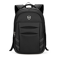 cheap High School Bags-Men's Bags Oxford cloth Backpack Smooth Black