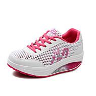 Femme Chaussures d'Athlétisme Confort Semelles Légères Tulle Printemps Eté Automne Extérieure Décontracté Sport Marche LacetTalon