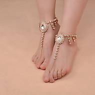 Ispustiti Imitacija bisera Sandale od nakita - Žene Zlato / Pink Vintage / Ručno Izrađen / Moda Kratka čarapa Za Dnevno / Kauzalni