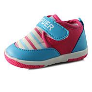 Bebek Ayakkabı Yapay Deri Bahar Sonbahar Rahat Düz Ayakkabılar Yürüyüş Günlük için Sihirli Bant Fuşya Pembe Ekran Rengi
