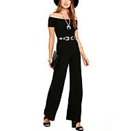 Žene Jumpsuits - Jedna boja, Jedna barva Lađa izrez Wide Leg Visoki struk