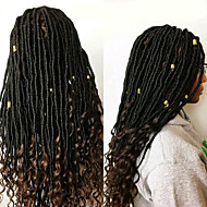 Dread Locks Haarvlechten 45cm Gehaakte Faux Dreadlocks Dreadlock Extensions Faux Dreadlocks 100% Kanekalon Haar Zwart Zwart / Strawberry