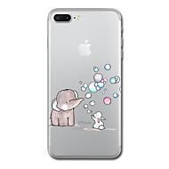 用途 iPhone X iPhone 8 ケース カバー クリア パターン バックカバー ケース 動物 象 ソフト TPU のために Apple iPhone X iPhone 8 Plus iPhone 8 iPhone 7プラス iPhone 7 iPhone 6s