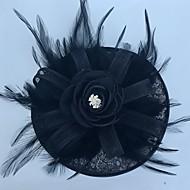 טול כובע / מפגשים / כובעים עם נוצות 1 מסיבה כיסוי ראש