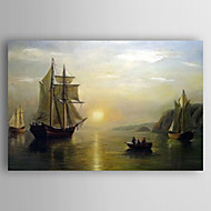 Hand-Painted  Boat Still Life  Oil Painting With Stretcher for Home Decoration Ready to Hang