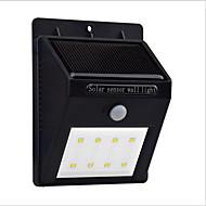 halpa -led-aurinkoliikenteen anturin valo 8leds viileä valkoinen ihmiskehon anturit 1kpl