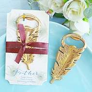 cheap Practical Favors-Gilded Gold Feather Bottle Opener Beter Gifts® Tea Party Favor