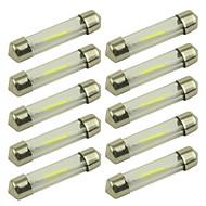 10個 36mm 車載 電球 1 W COB 100 lm 1 LED インテリアライト For ユニバーサル 全年式