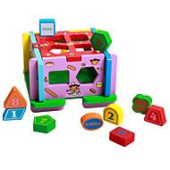 Spielhaus Steckpuzzles Für Geschenk Bausteine Naturholz 3-6 Jahre alt Spielzeuge