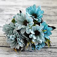 tanie -1 sztuka 1 Gałąź Poliester Plastikowy Stokrotki Bukiety na stół Sztuczne Kwiaty
