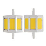 billige Spotlys med LED-2pcs 4 W 150 lm R7S LED-spotpærer 3 LED perler COB Varm hvit / Kjølig hvit 85-265 V / RoHs