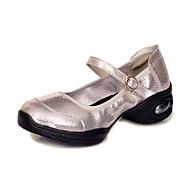 billige Moderne sko-Dame Moderne Kunstlær Joggesko Utendørs Flat hæl Gull Svart Sølv 3,5 cm Kan ikke spesialtilpasses