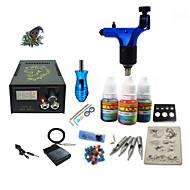 billige Tatoveringssett for nybegynnere-Tattoo Machine Startkit - 1 pcs tattoo maskiner med 1 x 5 ml tatovering blekk LCD strømforsyning No case 1 x roterende tatoveringsmaskin