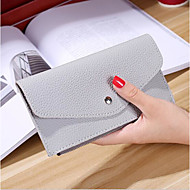 Women Bags All Seasons PU Checkbook Wallet for Casual Gray Red Pink