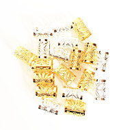 18# 10mmx15mm Crochet braids Dreadlock Hair Beads Color Golden and silver Rings for Synthetic Braiding Hair in Color For Synthetic Hairpiece 20pcs
