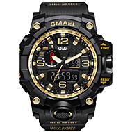 저렴한 -SMAEL 남성용 디지털 디지털 시계 밀리터리 시계 스포츠 시계 일본어 달력 크로노그래프 방수 큰 다이얼 야광 스톱워치 충격 방지 PU 실리콘 밴드 캐쥬얼 패션 멋진 블랙 레드 오렌지 그레이 카키 네이비