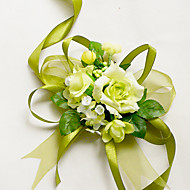 "billiga Brudbuketter-Brudbuketter Handleds Corsage Bröllop Chiffong Siden Cotton Satin 1.97""(ca. 5cm)"
